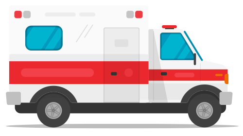 Illustration of ambulance.